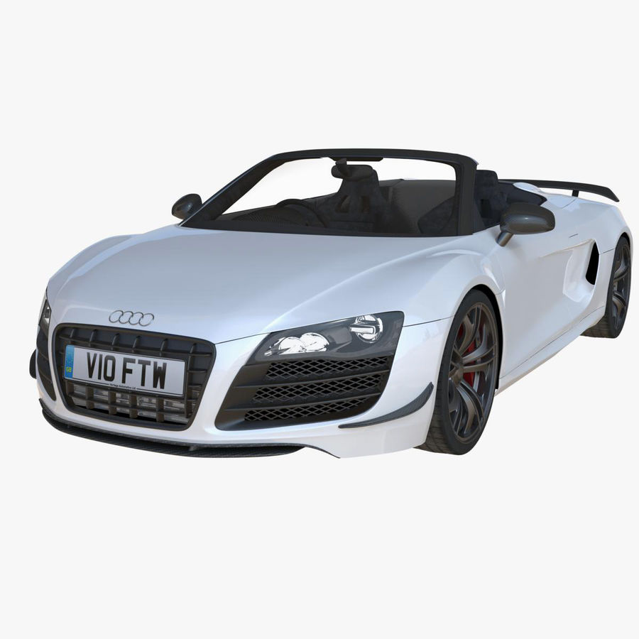 Audi R8 GT Spyder royalty-free 3d model - Preview no. 1