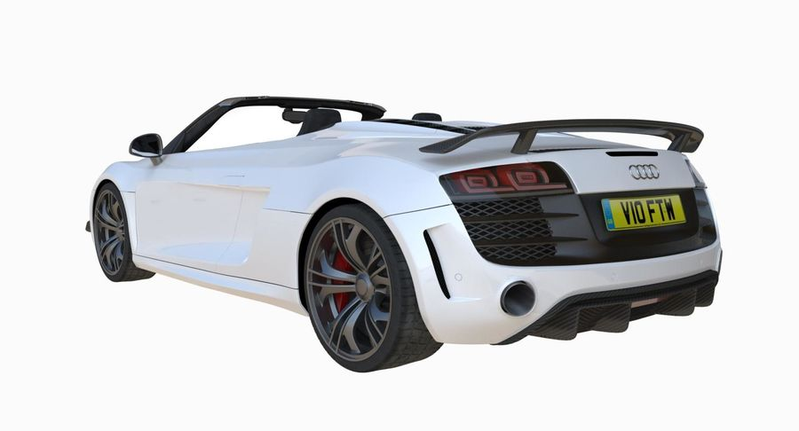 Audi R8 GT Spyder royalty-free 3d model - Preview no. 8