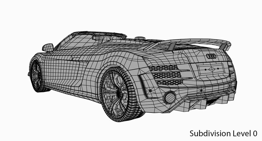 Audi R8 GT Spyder royalty-free 3d model - Preview no. 18