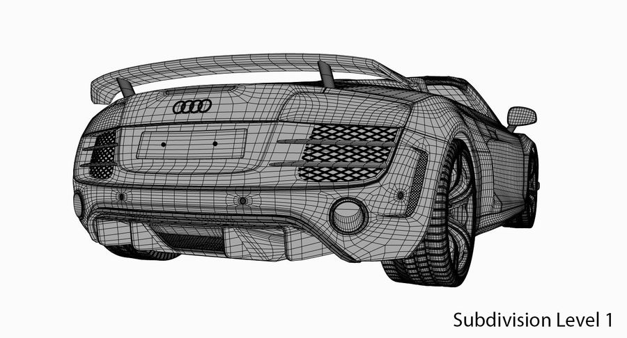Audi R8 GT Spyder royalty-free 3d model - Preview no. 11