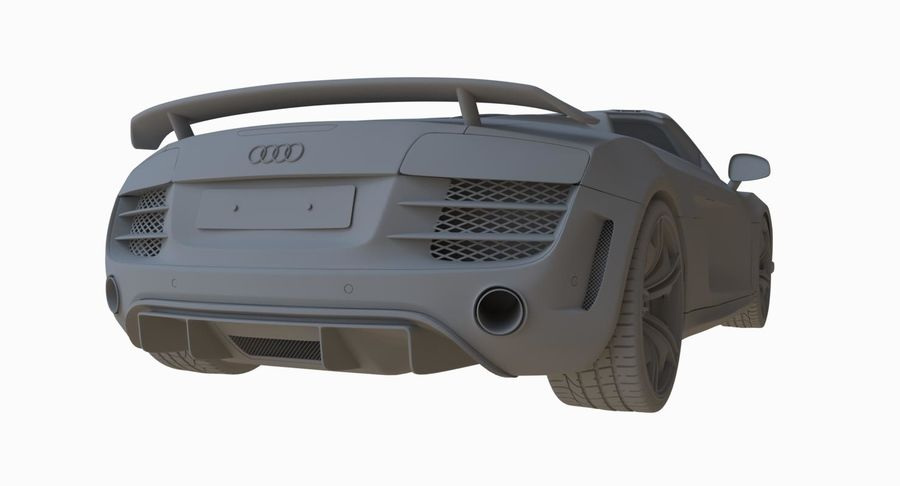 Audi R8 GT Spyder royalty-free 3d model - Preview no. 23