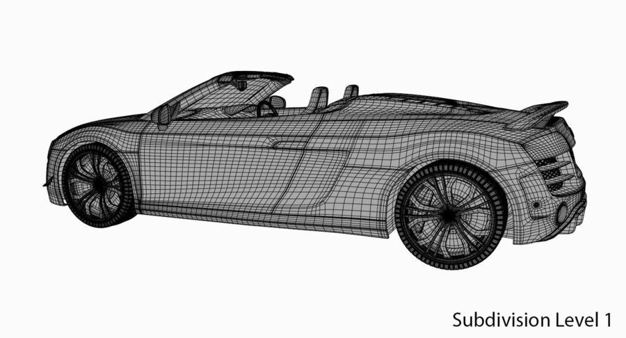 Audi R8 GT Spyder royalty-free 3d model - Preview no. 21