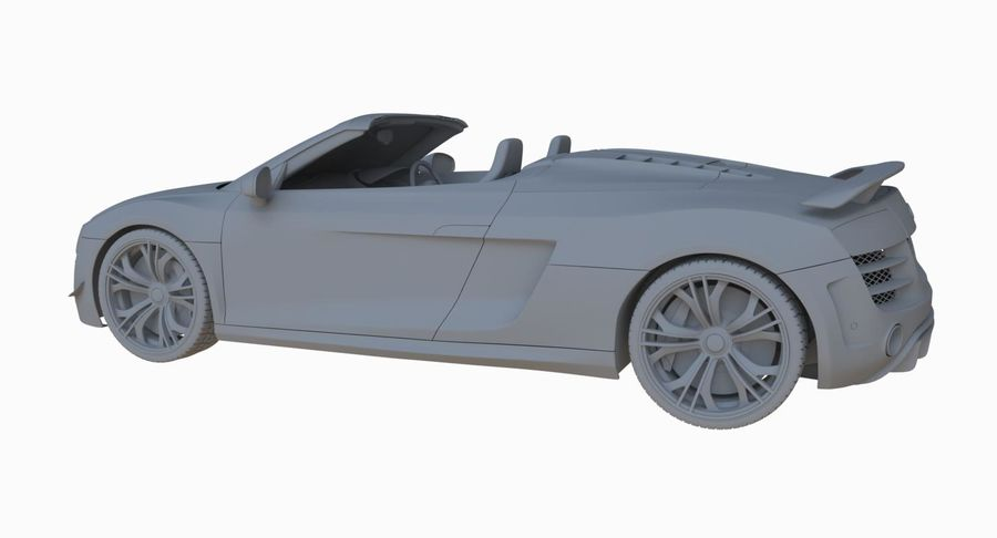 Audi R8 GT Spyder royalty-free 3d model - Preview no. 28