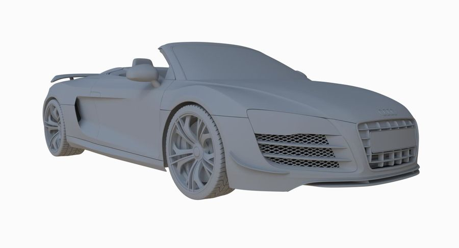 Audi R8 GT Spyder royalty-free 3d model - Preview no. 25