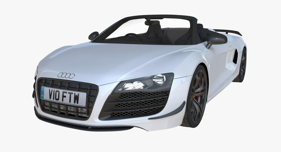Audi R8 GT Spyder royalty-free 3d model - Preview no. 2