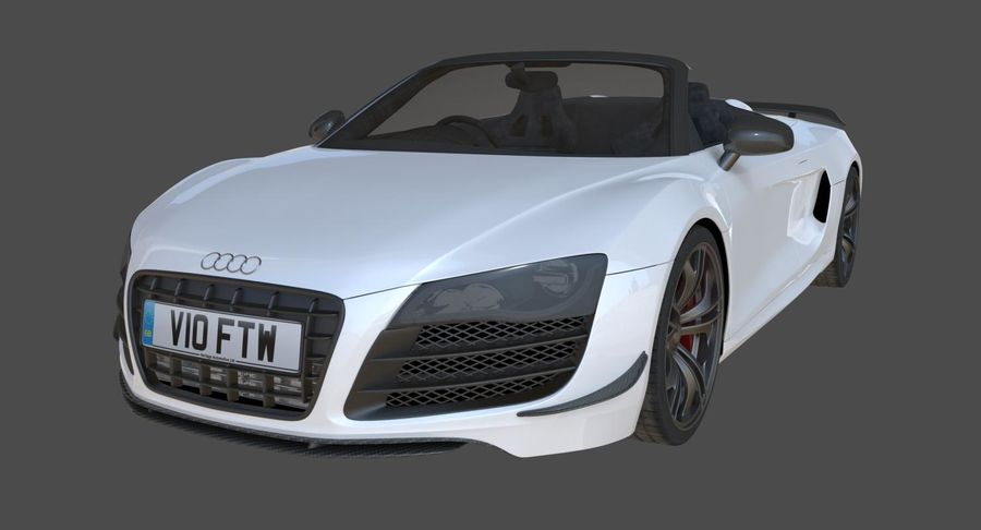 Audi R8 GT Spyder royalty-free 3d model - Preview no. 3