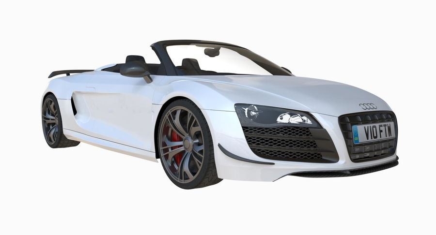Audi R8 GT Spyder royalty-free 3d model - Preview no. 6