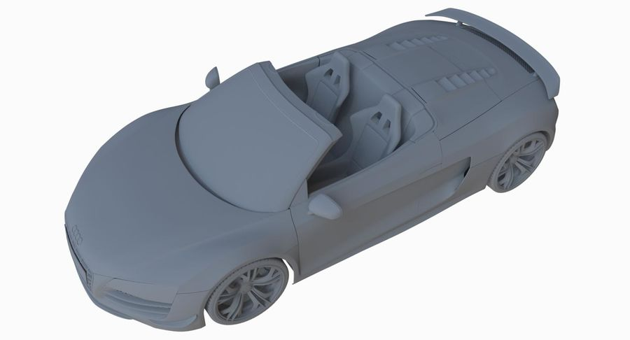 Audi R8 GT Spyder royalty-free 3d model - Preview no. 24