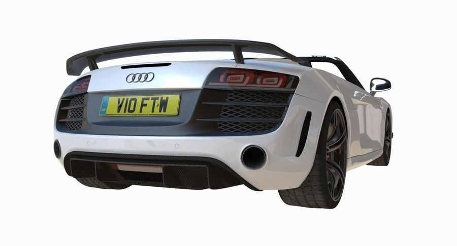Audi R8 GT Spyder royalty-free 3d model - Preview no. 4