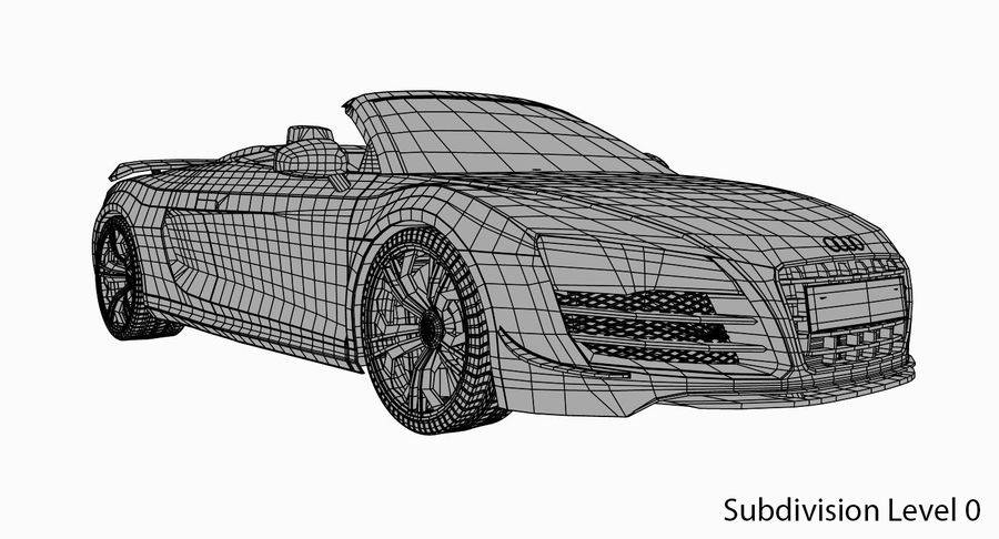 Audi R8 GT Spyder royalty-free 3d model - Preview no. 14