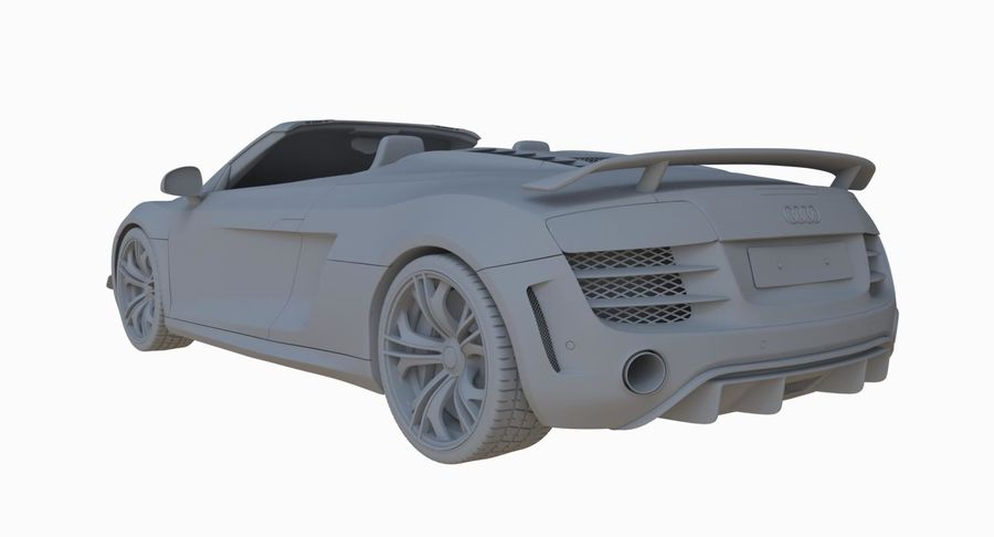 Audi R8 GT Spyder royalty-free 3d model - Preview no. 27