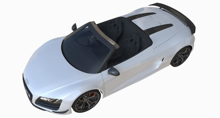 Audi R8 GT Spyder royalty-free 3d model - Preview no. 5