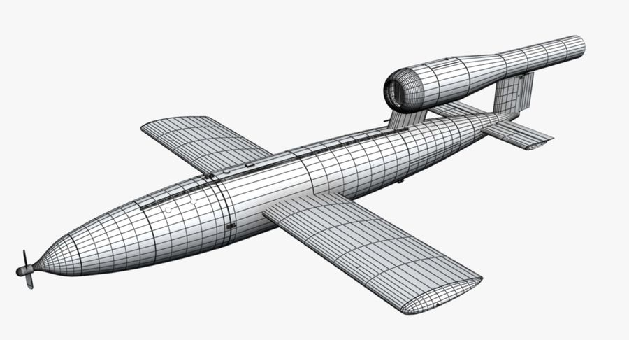 Buzz Bomb royalty-free 3d model - Preview no. 10