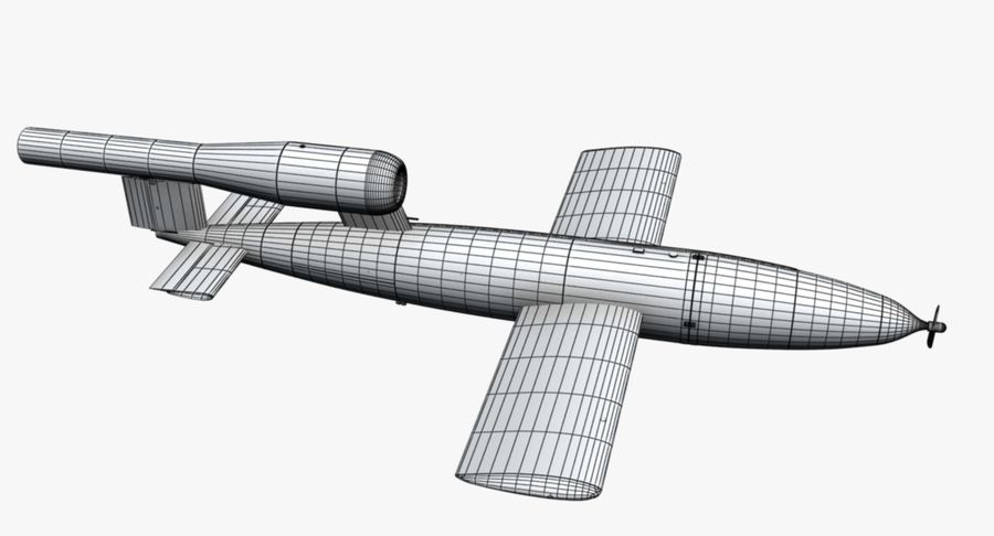 Buzz Bomb royalty-free 3d model - Preview no. 12