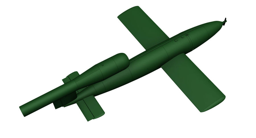 Buzz Bomb royalty-free 3d model - Preview no. 8