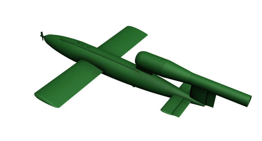 Buzz Bomb royalty-free 3d model - Preview no. 9