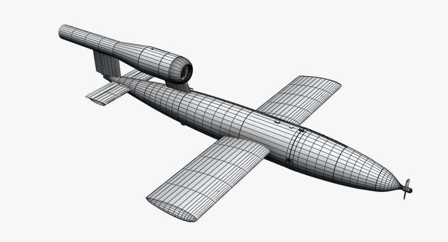 Buzz Bomb royalty-free 3d model - Preview no. 11