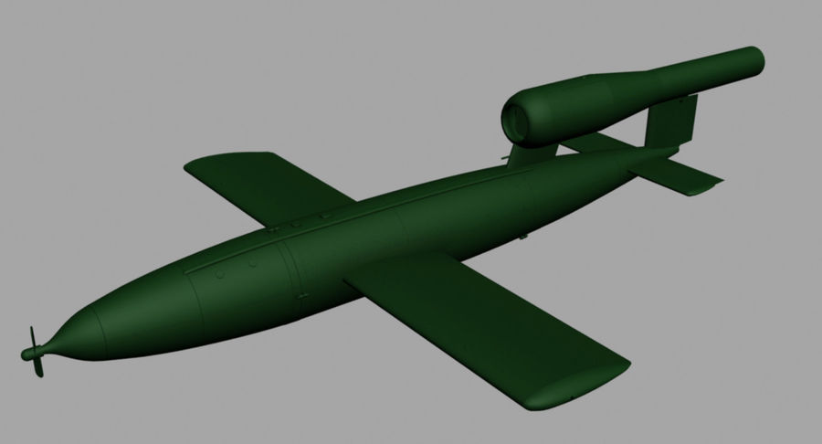 Buzz Bomb royalty-free 3d model - Preview no. 4