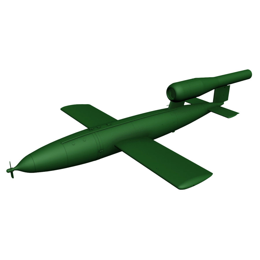 Buzz Bomb royalty-free 3d model - Preview no. 2