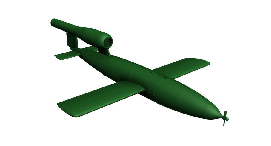 Buzz Bomb royalty-free 3d model - Preview no. 6