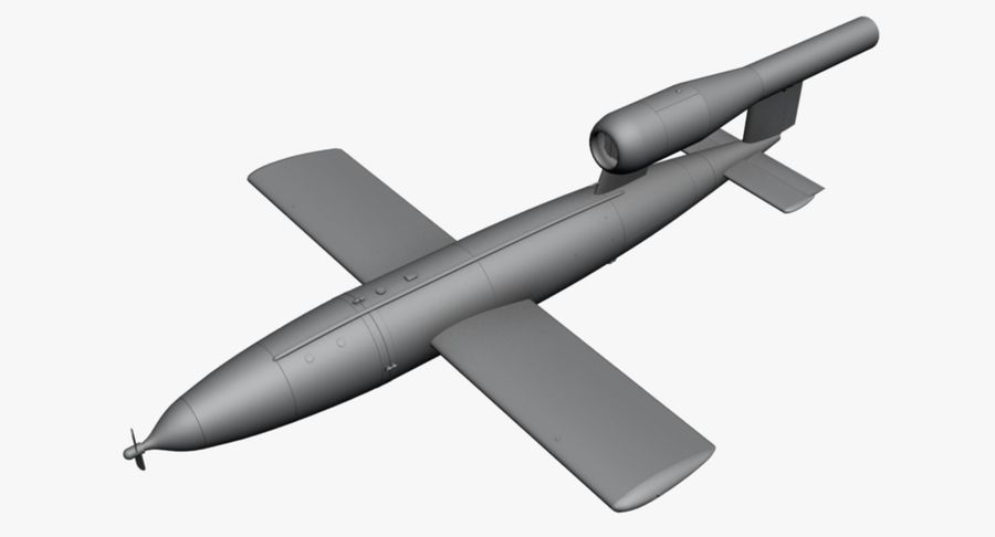 Buzz Bomb royalty-free 3d model - Preview no. 15
