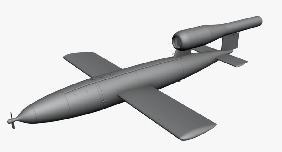 Buzz Bomb royalty-free 3d model - Preview no. 14