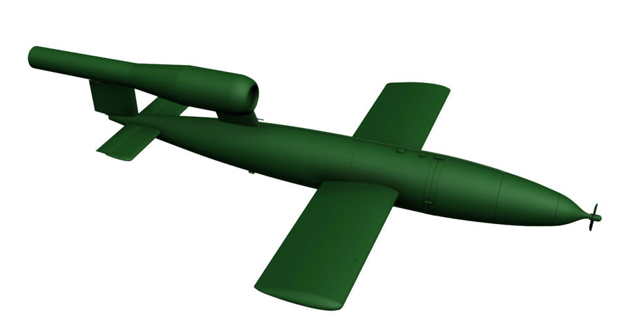 Buzz Bomb royalty-free 3d model - Preview no. 5