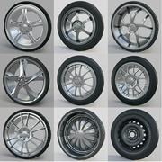 10 high detailed Car Wheels 3d model