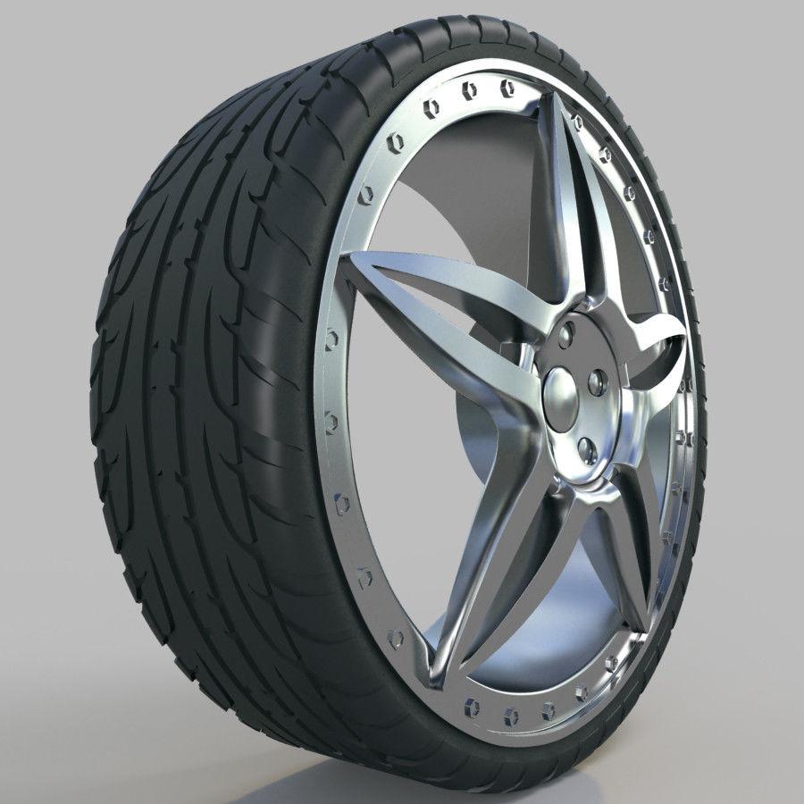 10の高詳細な車のホイール royalty-free 3d model - Preview no. 16