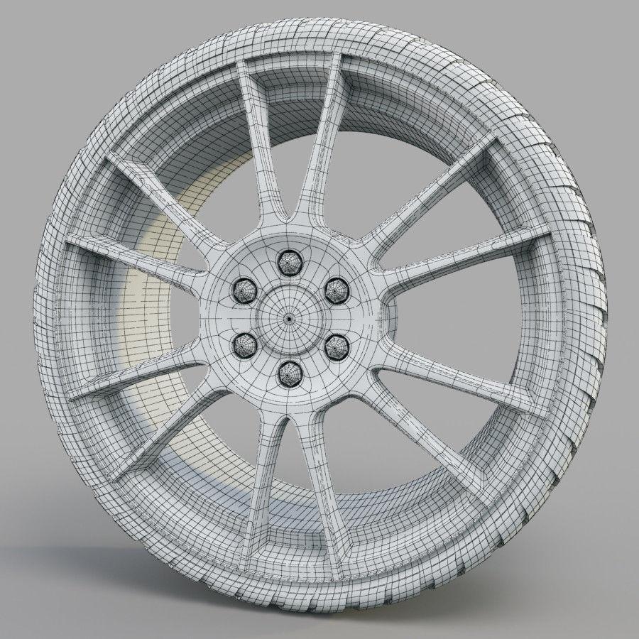 10の高詳細な車のホイール royalty-free 3d model - Preview no. 13