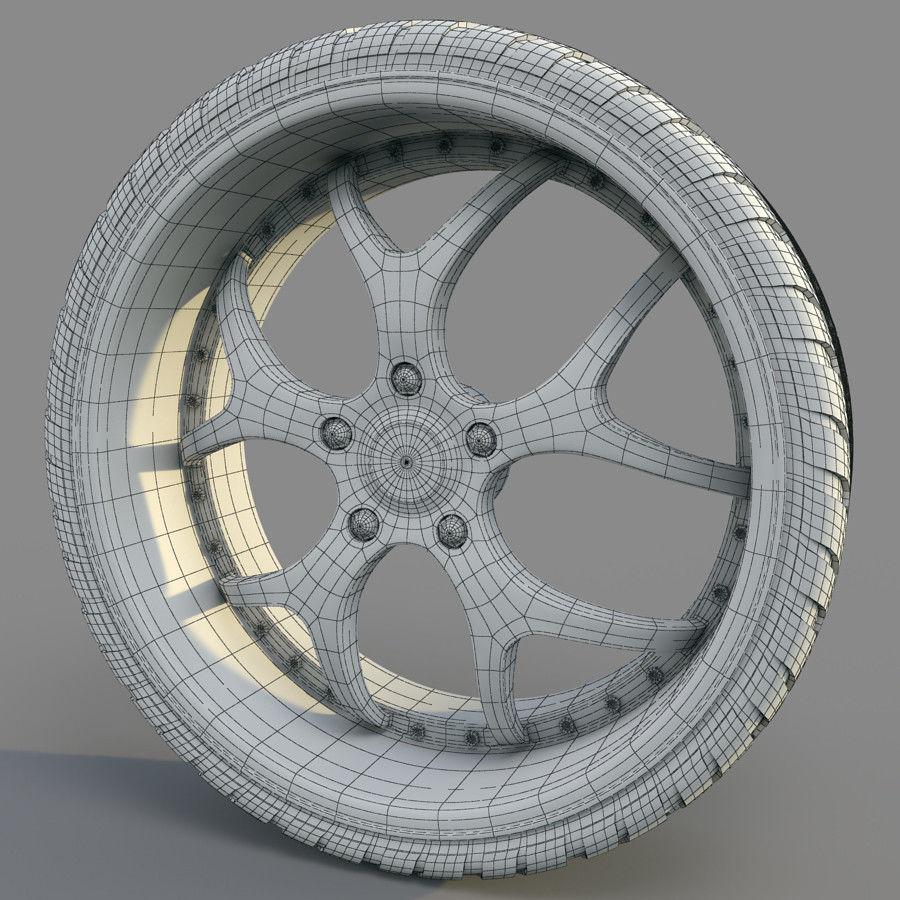10の高詳細な車のホイール royalty-free 3d model - Preview no. 8
