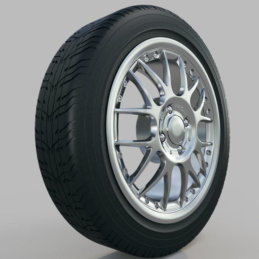 10の高詳細な車のホイール royalty-free 3d model - Preview no. 25
