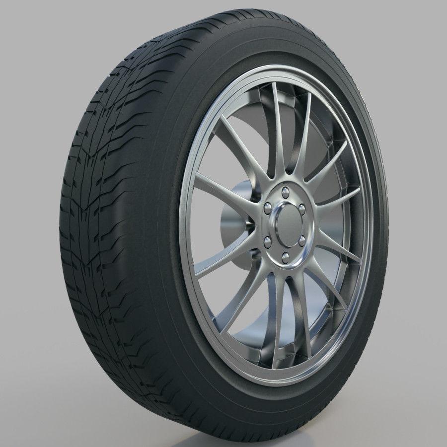 10の高詳細な車のホイール royalty-free 3d model - Preview no. 22