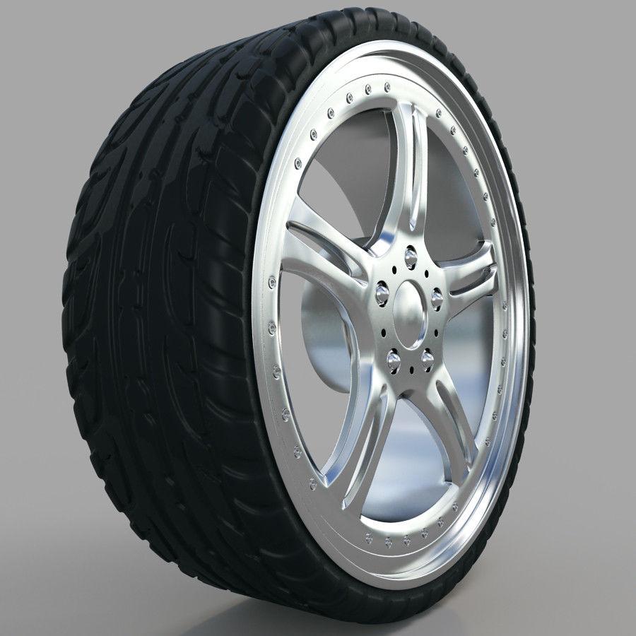10の高詳細な車のホイール royalty-free 3d model - Preview no. 4