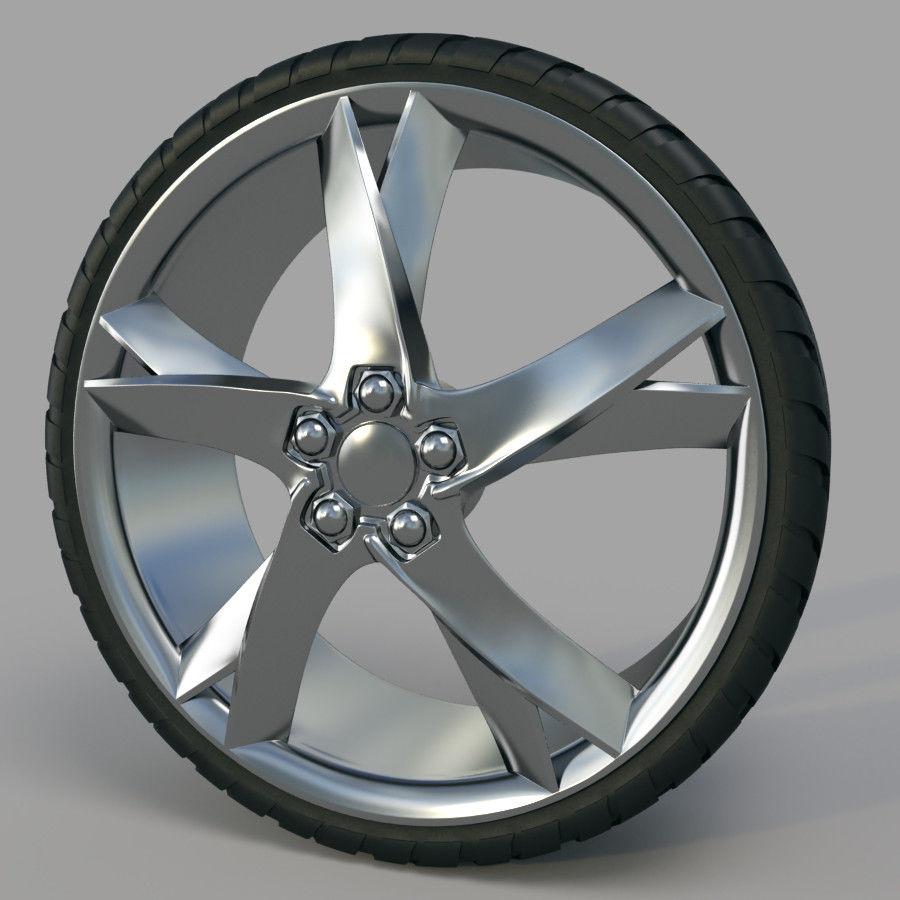 10の高詳細な車のホイール royalty-free 3d model - Preview no. 18