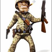 Kreskówka żołnierz 3d model