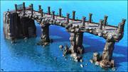 Fantasy mittelalterliche Brücke 3d model