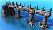 Fantasy Medieval Bridge 3d model