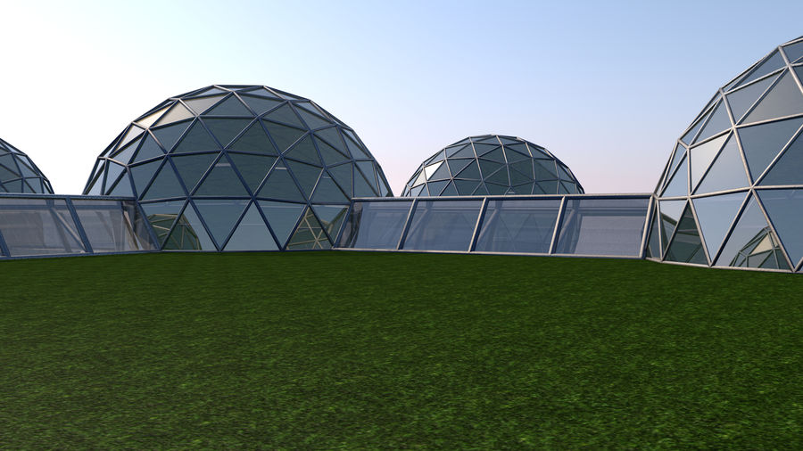 Domes Site royalty-free 3d model - Preview no. 2