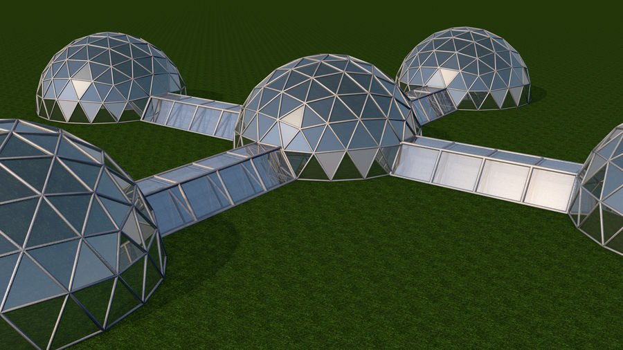 Domes Site royalty-free 3d model - Preview no. 4