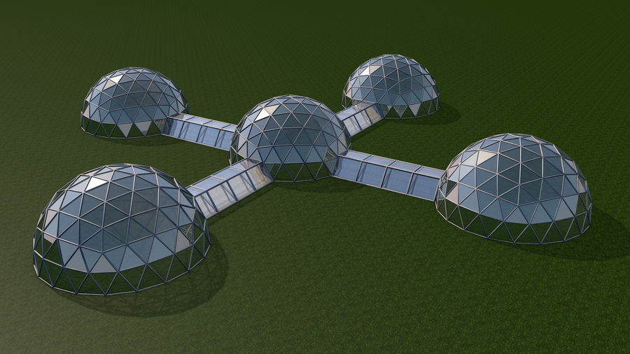 Domes Site royalty-free 3d model - Preview no. 1