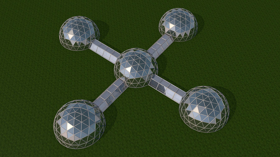 Domes Site royalty-free 3d model - Preview no. 5