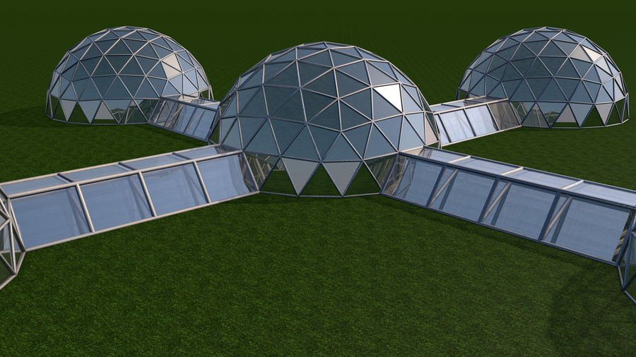 Domes Site royalty-free 3d model - Preview no. 3