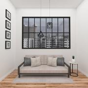 Simple Living Room Scene 3d model