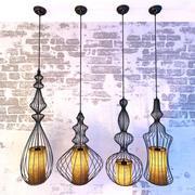 Vintage lampy kute 3d model
