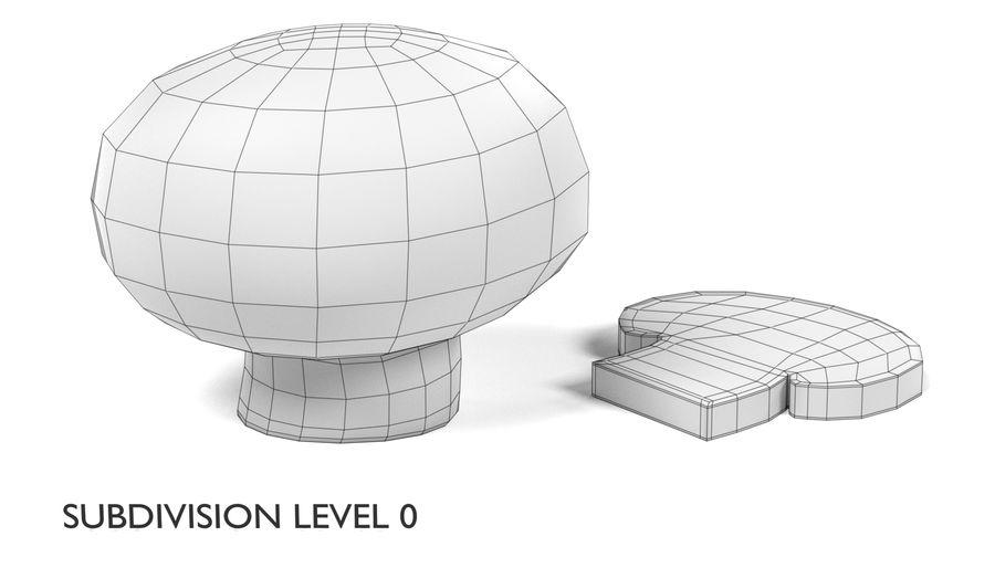 Champignon royalty-free 3d model - Preview no. 6
