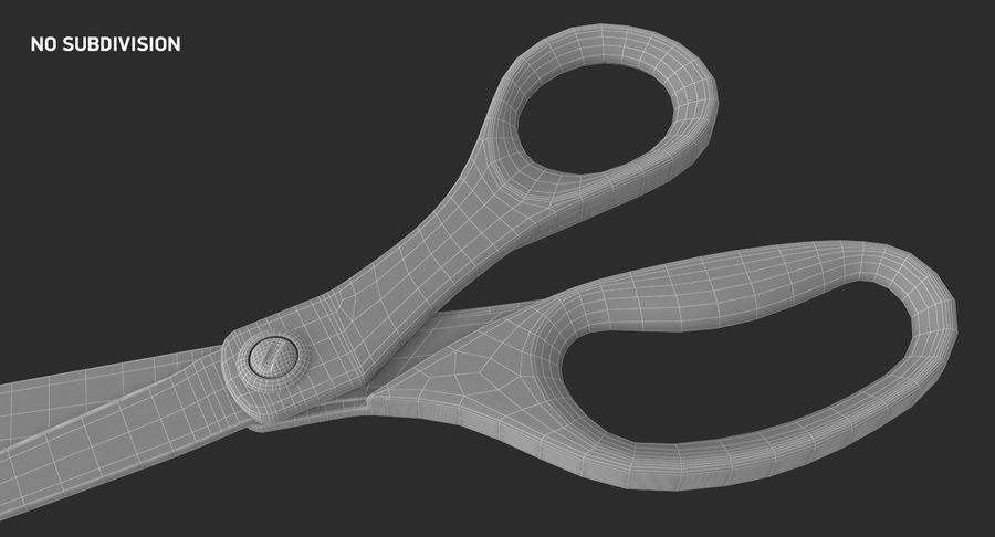 Scotch Precision Scissor royalty-free 3d model - Preview no. 13