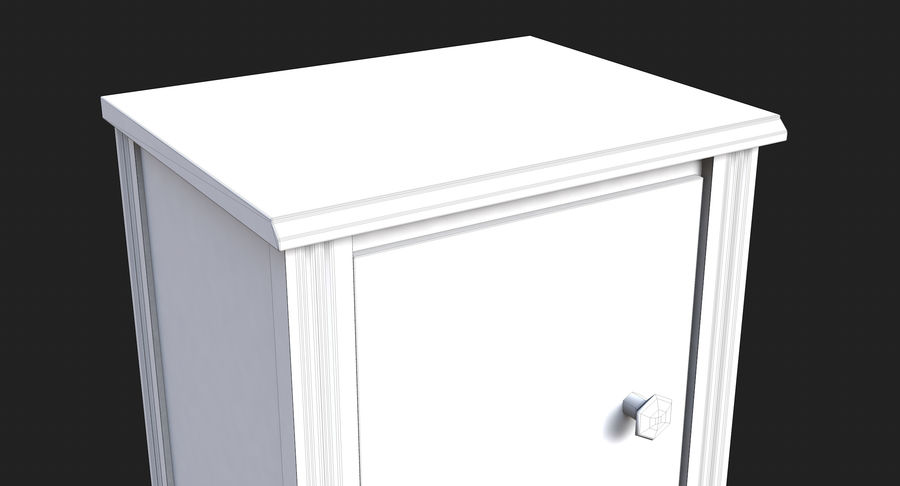 Table de chevet royalty-free 3d model - Preview no. 13