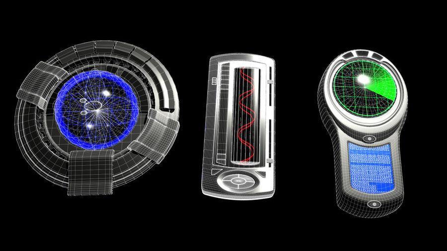 科幻小工具 royalty-free 3d model - Preview no. 19