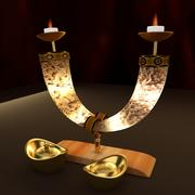 Lingote de oro chino modelo 3d